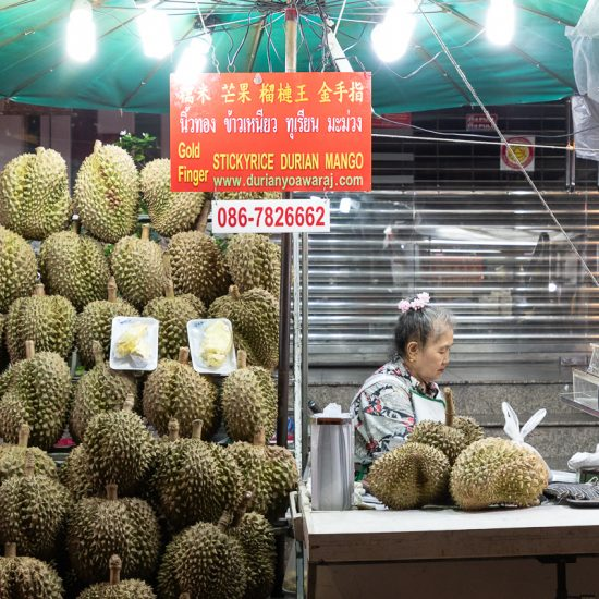 Yaowarat Road Bangkok Chinatown Street Food Durian Night Market